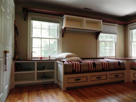 wood bed plans storage